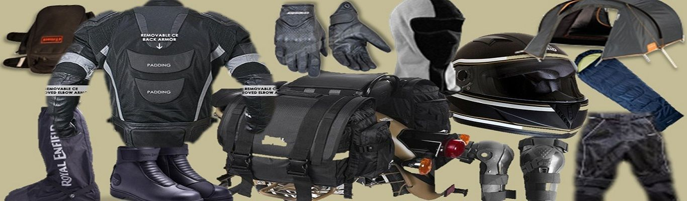 motorcycle riding gears, accessories